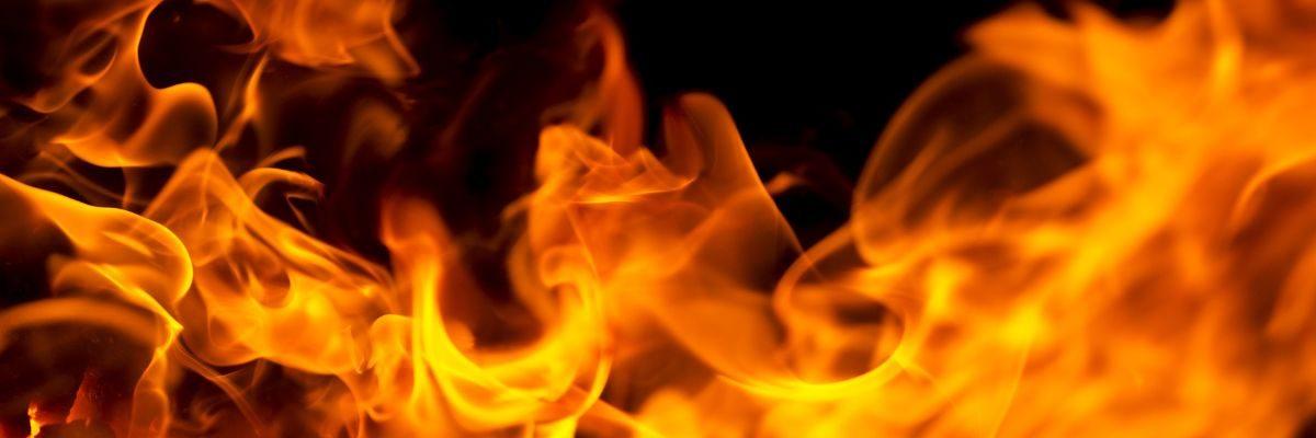 Vlam brand